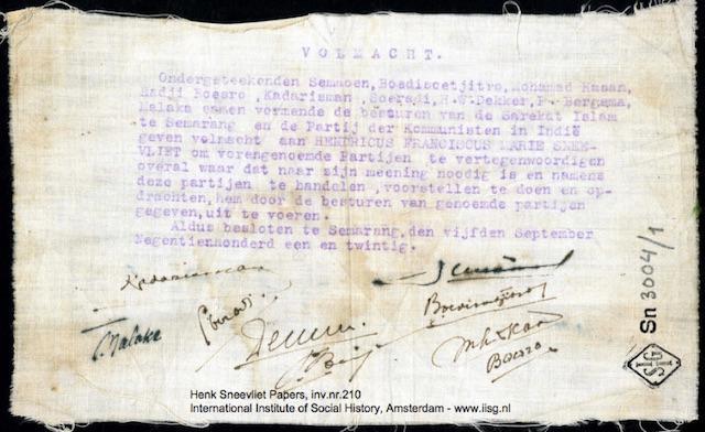 Hindari Razia Intel Kolonial, Surat Kuasa SI Merah Dibuat dari Kain