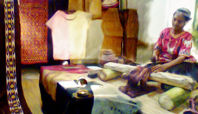 kain kulit kayu historia
