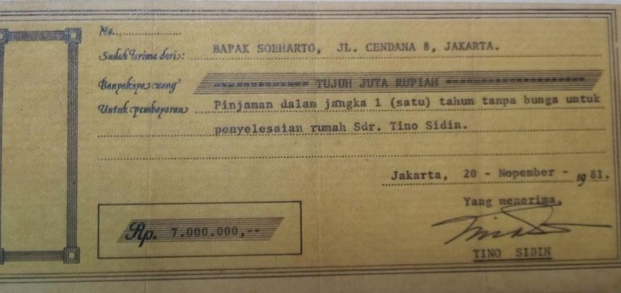 Pak Tino Sidin dan Pinjaman Uang dari Pak Harto